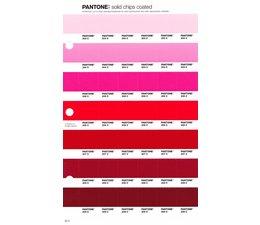 Pantone PMS Solid Chips vervangingspagina op coated papier 52C, kleurnummers 203C - 204C - 205C - 206C - 207C - 208C - 209C