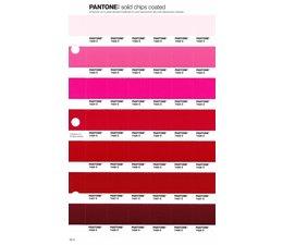 Pantone PMS Solid Chips vervangingspagina op coated papier 55C, kleurnummers 7422C - 7423C - 7424C - 7425C - 7426C - 7427C - 7428C