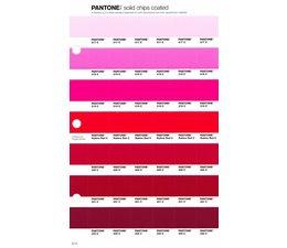 Pantone PMS Solid Chips vervangingspagina op coated papier 57C, kleurnummers 217C - 218C - 219C - 220C - 221C - 222C