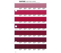 Pantone PMS Solid Chips vervangingspagina op coated papier 58C, kleurnummers 7639C - 7640C - 7641C - 7642C - 7643C - 7644C - 7645C