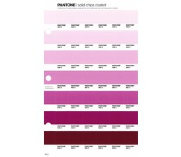 Pantone PMS Solid Chips vervangingspagina op coated papier 65C, kleurnummers 684C - 685C - 686C - 687C - 688C - 689C - 690C