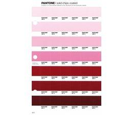 Pantone PMS Solid Chips vervangingspagina op coated papier 69C, kleurnummers 496C - 495C - 494C - 493C - 492C - 491C - 490C