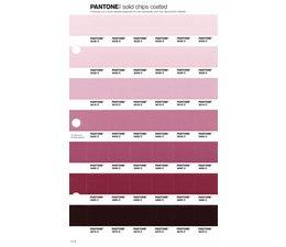 Pantone PMS Solid Chips vervangingspagina op coated papier 71C, kleurnummers 5035C - 5025C - 5015C - 5005C - 4995C - 4985C - 4975C