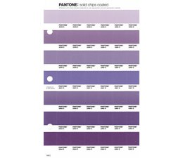 Pantone PMS Solid Chips vervangingspagina op coated papier 106C, kleurnummers 2358C - 2359C - 2360C - 2361C - 2362C - 2363C - 2364C