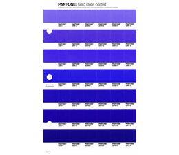 Pantone PMS Solid Chips vervangingspagina op coated papier 109C, kleurnummers 2366C - 2367C - 2368C - 2369C - 2370C - 2371C - 2372C