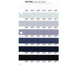 Pantone PMS Solid Chips vervangingspagina op coated papier 111C, kleurnummers 7541C - 7542C - 7543C - 7544C - 7545C - 7546C - 7547C