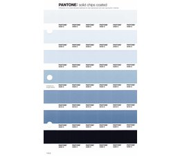 Pantone PMS Solid Chips vervangingspagina op coated papier 115C, kleurnummers 5455C - 5445C - 5435C - 5425C - 5415C - 5405C - 5395C