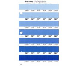Pantone PMS Solid Chips vervangingspagina op coated papier 116C, kleurnummers 2155C - 2156C - 2157C - 2158C - 2159C - 2160C - 2161C