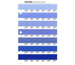 Pantone PMS Solid Chips vervangingspagina op coated papier 117C, kleurnummers 2134C - 2135C - 2136C - 2137C - 2138C - 2139C - 2140C