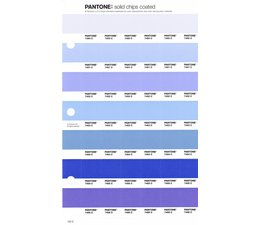 Pantone PMS Solid Chips vervangingspagina op coated papier 122C, kleurnummers 7450C - 7451C - 7452C - 7453C - 7454C - 7455C - 7456C