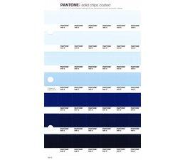 Pantone PMS Solid Chips vervangingspagina op coated papier 131C, kleurnummers 545C - 544C - 543C - 542C - 541C - 540C - 539C