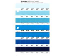 Pantone PMS Solid Chips vervangingspagina op coated papier 145C, kleurnummers 7457C - 7458C - 7459C - 7460C - 7461C - 7462C - 7463C