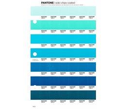 Pantone PMS Solid Chips vervangingspagina op coated papier 158C, kleurnummers 7464C - 7465C - 7466C - 7467C - 7468C - 7469C - 7470C