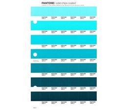 Pantone PMS Solid Chips vervangingspagina op coated papier 165C, kleurnummers 3242C - 3252C - 3262C - 3272C - 3282C - 3292C - 3302C