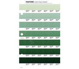 Pantone PMS Solid Chips vervangingspagina op coated papier 172C, kleurnummers 2404C - 2406C - 2407C - 2408C - 2409C - 2410C - 2411C