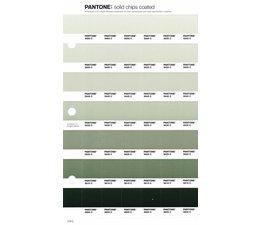 Pantone PMS Solid Chips vervangingspagina op coated papier 174C, kleurnummers 5665C - 5655C - 5645C - 5635C - 5625C - 5615C - 5605C