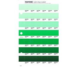 Pantone PMS Solid Chips vervangingspagina op coated papier 184C, kleurnummers 344C - 345C - 346C - 347C - 348C - 349C - 350C