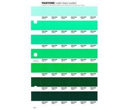 Pantone PMS Solid Chips vervangingspagina op coated papier 186C, kleurnummers 7478C - 7479C - 7480C - 7481C - 7482C - 7483C - 7484C