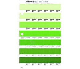 Pantone PMS Solid Chips vervangingspagina op coated papier 191C, kleurnummers 358C - 359C - 360C - 361C - 362C - 363C - 364C