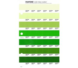 Pantone PMS Solid Chips vervangingspagina op coated papier 195C, kleurnummers 2274C - 2275C - 2276C - 2277C - 2278C - 2279C - 2280C
