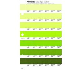 Pantone PMS Solid Chips vervangingspagina op coated papier 196C, kleurnummers 365C - 366C - 367C - 368C - 369C - 370C - 371C