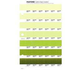 Pantone PMS Solid Chips vervangingspagina op coated papier 201C, kleurnummers 580C - 579C - 578C - 577C - 576C - 575C - 574C