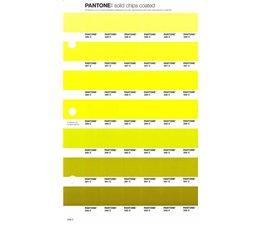 Pantone PMS Solid Chips vervangingspagina op coated papier 209C, kleurnummers 386C - 387C - 388C - 389C - 390C - 391C - 392C