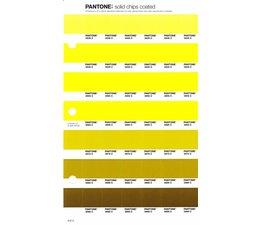 Pantone PMS Solid Chips vervangingspagina op coated papier 212C, kleurnummers 3935C - 3945C - 3955C - 3965C - 3975C - 3985C - 3995C