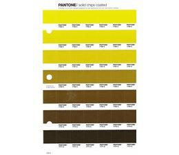 Pantone PMS Solid Chips vervangingspagina op coated papier 219C, kleurnummers 7765C - 7766C - 7767C - 7768C - 7769C - 7770C - 7771C