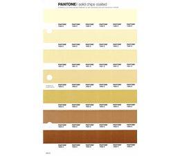 Pantone PMS Solid Chips vervangingspagina op coated papier 223C, kleurnummers 7499C - 7500C - 7501C - 7502C - 7503C - 7504C - 7505C