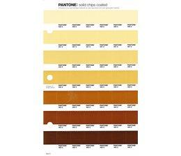 Pantone PMS Solid Chips vervangingspagina op coated papier 224C, kleurnummers 468C - 467C - 466C - 465C - 464C - 463C - 462C