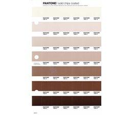Pantone PMS Solid Chips vervangingspagina op coated papier 235C, kleurnummers 7527C - 7528C - 7529C - 7530C - 7531C - 7532C - 7533C