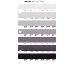 Pantone PMS Solid Chips vervangingspagina op coated papier 238C, kleurnummers 420C - 421C - 422C - 423C - 424C - 425C - 426C