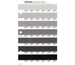 Pantone PMS Solid Chips vervangingspagina op coated papier 240C, kleurnummers 413C - 414C - 415C - 416C - 417C - 418C - 419C