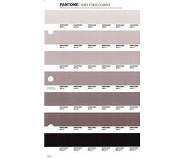Pantone PMS Solid Chips vervangingspagina op coated papier 242C, kleurnummers 400C - 401C - 402C - 403C - 404C - 405C - Black C