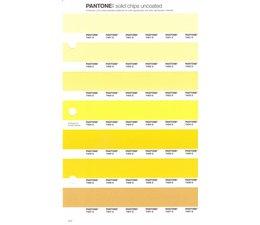 Pantone PMS Solid Chips vervangingspagina op uncoated papier 3U, kleurnummers 7401U - 7402U - 7403U - 7404U - 7405U - 7406U - 7407U