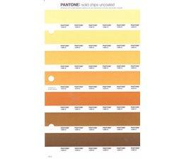 Pantone PMS Solid Chips vervangingspagina op uncoated papier 14U, kleurnummers 1345U - 1355U - 1365U - 1375U - 1385U - 1395U - 1405U