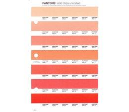 Pantone PMS Solid Chips vervangingspagina op uncoated papier 25U, kleurnummers 2022U - 2023U - 2024U - 2025U - 2026U - 2027U - 2028U
