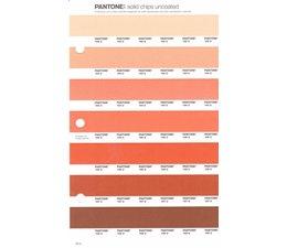 Pantone PMS Solid Chips vervangingspagina op uncoated papier 26U, kleurnummers 162U - 163U - 164U - 165U - 166U - 167U - 168U