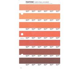 Pantone PMS Solid Chips vervangingspagina op uncoated papier 27U, kleurnummers 7576U - 7577U - 7578U - 7579U -7580U - 7581U - 7582U