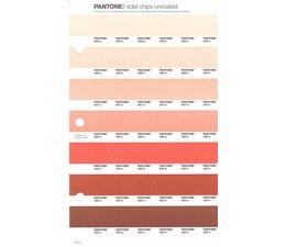 Pantone PMS Solid Chips vervangingspagina op uncoated papier 37U, kleurnummers 489U - 488U - 487U - 486U - 485U - 484U - 483U