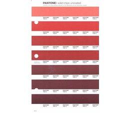 Pantone PMS Solid Chips vervangingspagina op uncoated papier 44U, kleurnummers 7625U - 7626U - 7627U - 7628U - 7629U - 7630U - 7631U