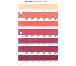 Pantone PMS Solid Chips vervangingspagina op uncoated papier 45U, kleurnummers 7415U - 7416U - 7417U - 7418U - 7419U - 7420U - 7421U