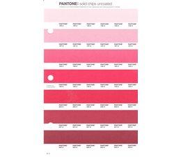 Pantone PMS Solid Chips vervangingspagina op uncoated papier 47U, kleurnummers 196U - 197U - 198U - 199U - 200U - 201U - 202U