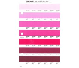 Pantone PMS Solid Chips vervangingspagina op uncoated papier 54U, kleurnummers 2036U - 2037U - 2038U - 2039U - 2040U - 2041U - 2042U