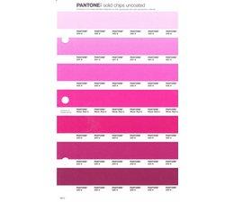 Pantone PMS Solid Chips vervangingspagina op uncoated papier 60U, kleurnummers 230U - 231U - 232U - 233U - 234U - 235U