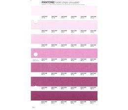 Pantone PMS Solid Chips vervangingspagina op uncoated papier 63U, kleurnummers 677U - 678U - 679U - 680U - 681U - 682U - 683U