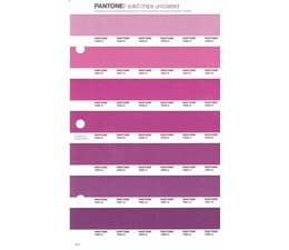 Pantone PMS Solid Chips vervangingspagina op uncoated papier 76U, kleurnummers 7646U - 7647U - 7648U - 7649U - 7650U - 7651U - 7652U