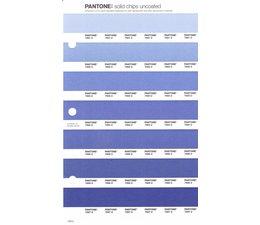Pantone PMS Solid Chips vervangingspagina op uncoated papier 129U, kleurnummers 7681U - 7682U - 7683U - 7684U - 7685U - 7686U - 7687U