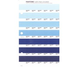 Pantone PMS Solid Chips vervangingspagina op uncoated papier 131U, kleurnummers 545U - 544U - 543U - 542U - 541U - 540U - 539U